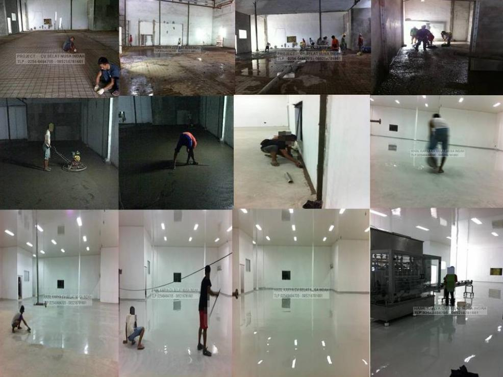 Hardener Epoxy Floor : Pengecoran floor hardener dan epoxy lantai bangunan